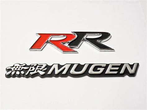 emblem mugen power mini honda mugen rr emblem combo white logo badge sicker civic