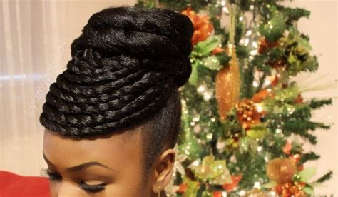 how to cornrow in a circle from kyssmyhair com holiday updo jumbo kanekalon hair