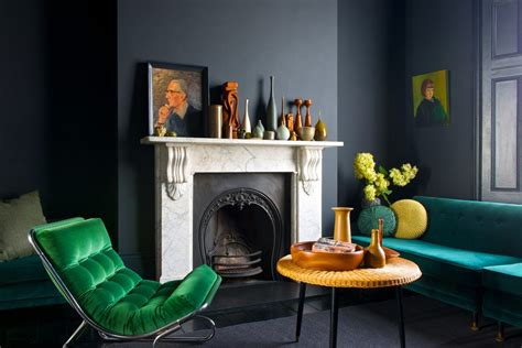 modern grey living room with pops of green happy wife pop up trundle living room contemporary with green sofa