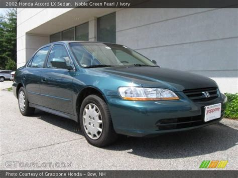 2002 green honda accord noble green pearl 2002 honda accord lx sedan ivory