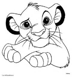 simba coloring page of lion king printable pages kayde pinterest lions drawings and
