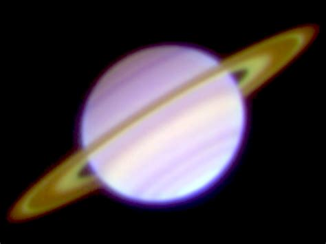 saturn color saturn s rings viewed in the mid infrared show bright