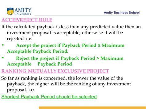 Amity Mba Value by Lecture 26 Capital Budgeting
