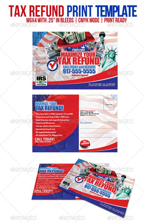 Tax Refund By Psdflyers Graphicriver Tax Return Template