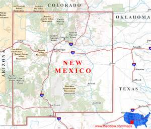 us map new mexico state new mexico maps