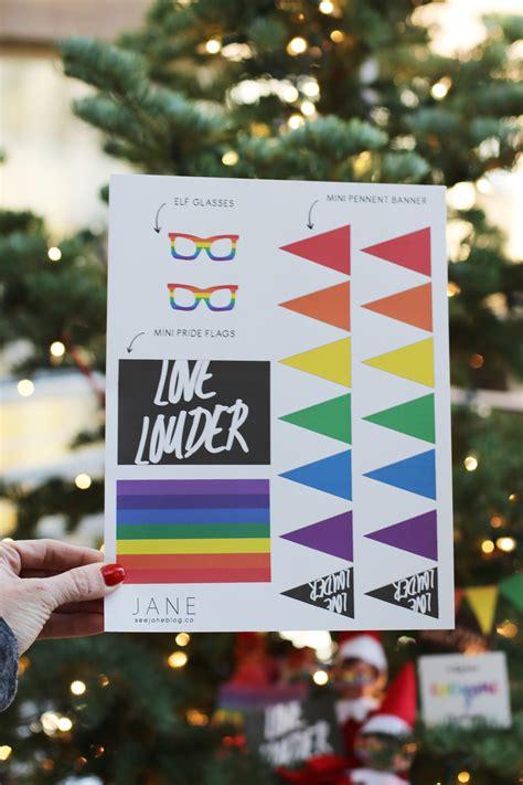 printable elf on the shelf glasses elf on the shelf pride festival see jane blog