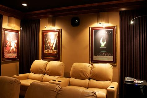 theater room  hidden projector home theater