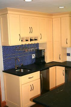 Soapstone Countertops Ri Shaker Kitchen Cabinets In Maple Cognac Glass Kitchen