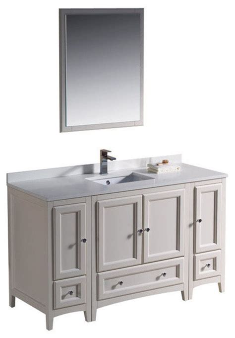 54 Inch Vanity Sink by 54 Inch Single Sink Bathroom Vanity In Antique White