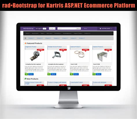 rad bootstrap for kartris replaces zurb with bootstrap3 on