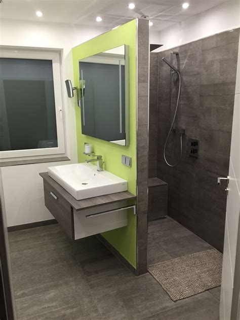 badezimmer dusche badezimmer mit begehbarer dusche fliesen in betonoptik
