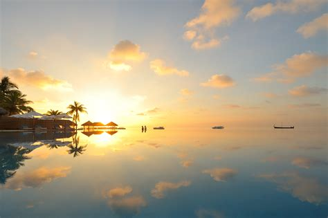 wallpaper island resort sunset maldives  nature