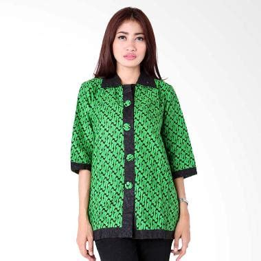 Jo Atasan 2 20 Model Baju Batik Untuk Kerja Kantoran Terbaru 2018