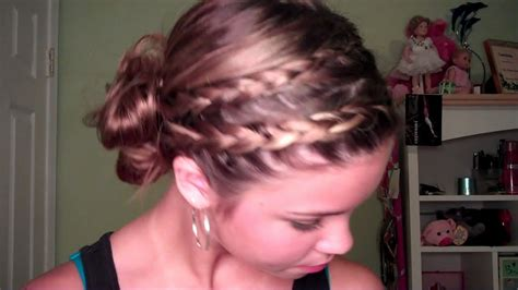 braided hairstyles tutorials youtube back to school double braided side bun hair tutorial