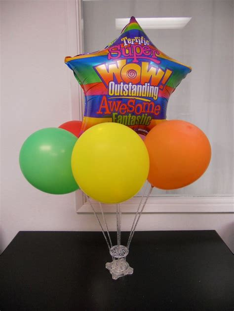 7 Best Images About Our Balloon Accessory Products In Use Balloons On Sticks Centerpiece