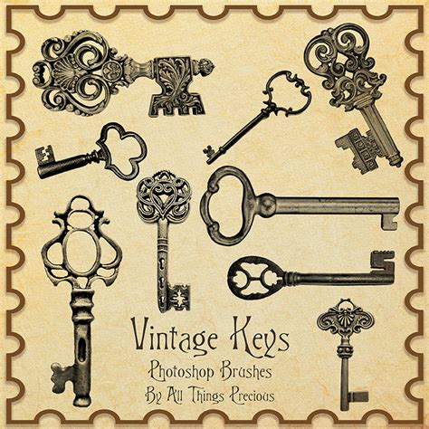 photoshop key pattern vintage keys brushes by allthingsprecious on deviantart