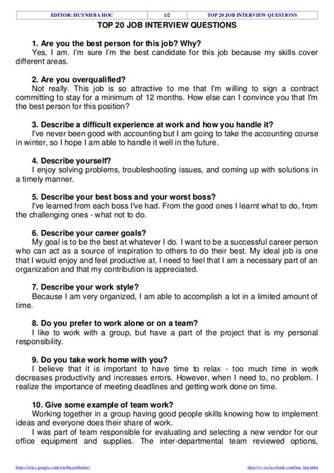 analog layout interview questions pdf top 20 job interview questions
