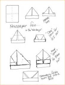 Make Paper Hats - how to make a paper hat pirate hat diagram jpg