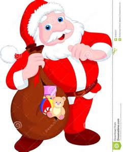 Christmas and new year with santa claus