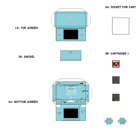 Nintendo Ds Papercraft - papercraft templates search mini electronics