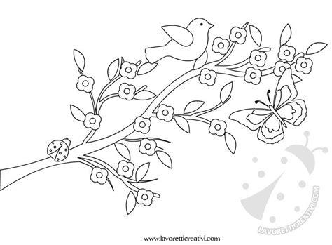 rami di fiori da colorare idea cartellone primavera lavoretti creativi