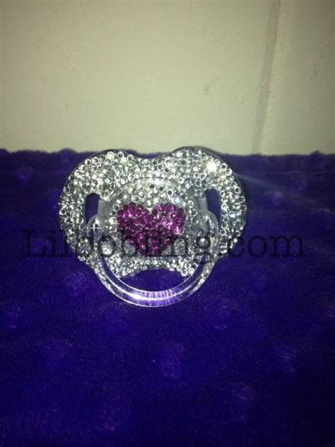 One Gig Of Glitter From Philips And Swarovski by Avent Bling Pacifier With By Lilbobling On Etsy 27