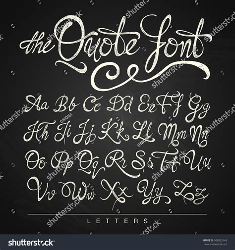 Quotes With Letter Z Handwritten Calligraphy Quote Font Letters White Stock Illustration 308823149