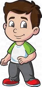 Light Brown Pants A Preschooler Boy Looking Cool And Calm Cartoon Clipart