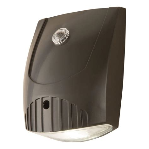 outdoor wall lights with photocell all pro bronze integrated led outdoor wall pack light with
