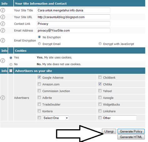 membuat halaman html cara untuk membuat halaman privacy policy cara untuk