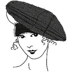 Embroidery Beret cloche beret 2 embroidery designs machine embroidery