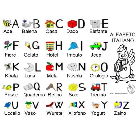lettere alfabeto con disegni per bambini disegno di alfabeto italiano con disegni da colorare per