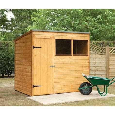 7x5 Wooden Shed shedswarehouse hanbury 7x5 wooden shiplap pent shed