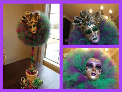 mardi gras centerpieces diy diy mardi gras tulle topiary decorating idea 2015