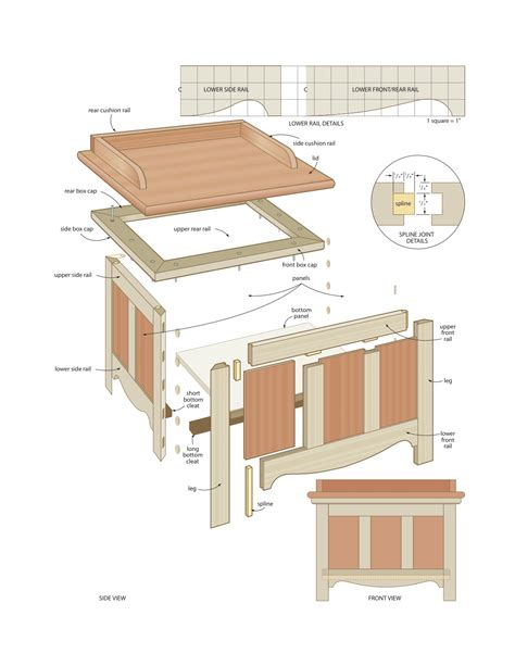 outdoor storage bench woodworking plans woodshop plans
