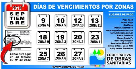 vencimientos abril 2013 vencimientos septiembre 2013 vencimientos dias de vencimientos por zonas