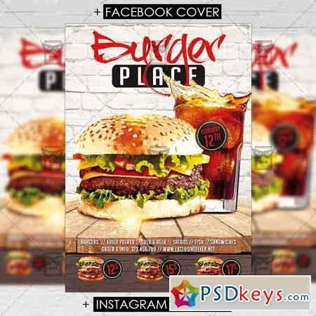 template flyer burger burger place premium flyer template 187 free download