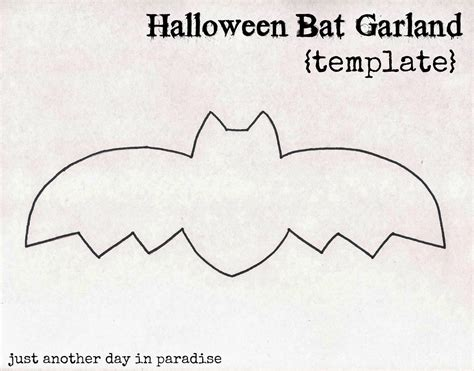 Larissa Another Day Halloween Bat Garland Tutorial Garland Template