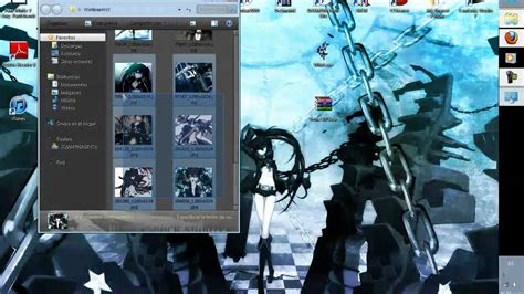 black rock shooter rainmeter skin tema black rock shooter para windows 7 youtube