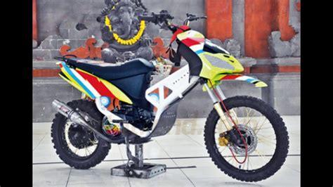 Rangka Trail modifikasi liar motor yamaha mio trail kontruksi rangka steeringsystem