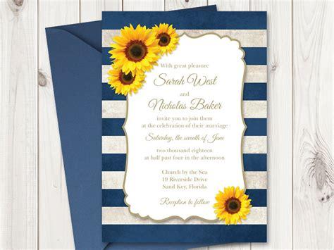 Invitation Templates Shishko Templates Sunflower Stationery Template