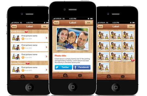 iphone app design templates photoly iphone and ios app ui design templates