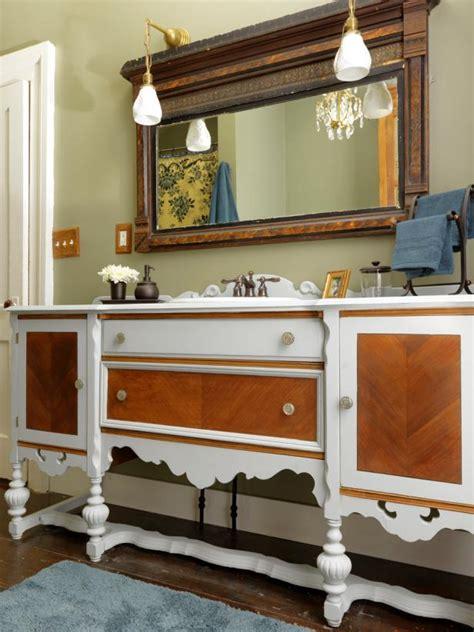 old dresser bathroom vanity repurpose a dresser into a bathroom vanity how tos diy