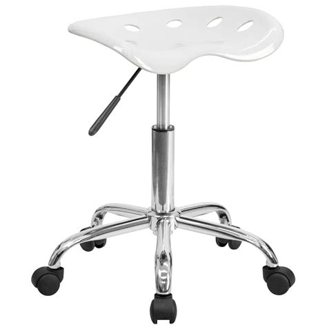 White Tractor Seat Stool by White Office Stool With Tractor Seat And Chrome Frame
