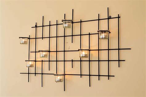 wall mounted tea light holders wall mounted tea light holder 7xxl candle metal 83cm