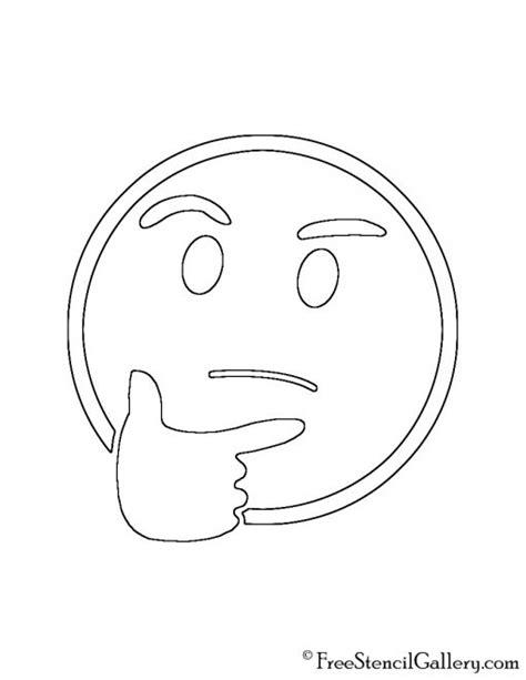 printable pumpkin stencils emoji emoji thinking stencil free stencil gallery