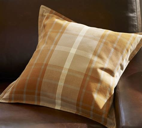 Pottery Barn Decorative Pillows by Harvest Plaid Pillow Cover Warm Traditional