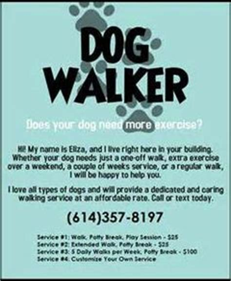 Dog Walking Services Business Card Choose Your Style Stock With Ideas For Dog Business Images Walking Business Flyer Template