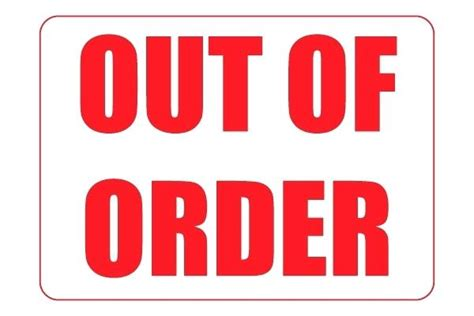 Out Of Order Bathroom Sign Out Of Order Bathroom Sign Freetemplate Club Out Of Service Sign Template