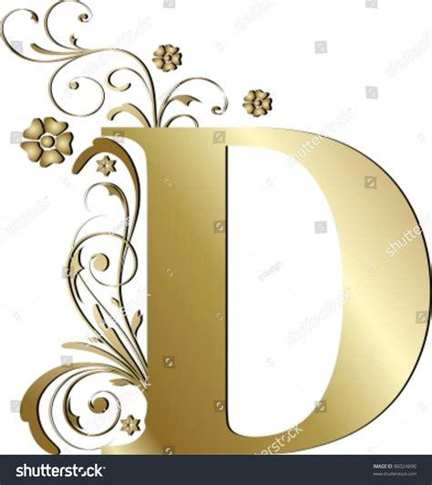 le lettere d pi禮 capital letter d gold stock vector 86024890